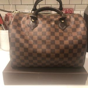Pre-Owned Louis Vuitton Speedy 30 Damier Ebene